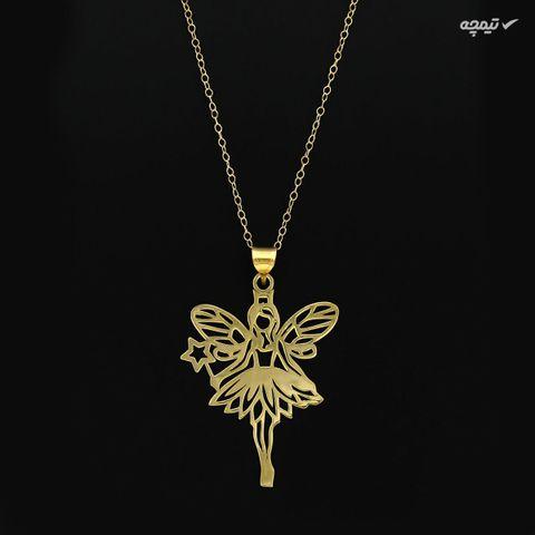 آویز گردنبند طلا 18 عیار زنانه کاپانی طرح فرشته کد KP004