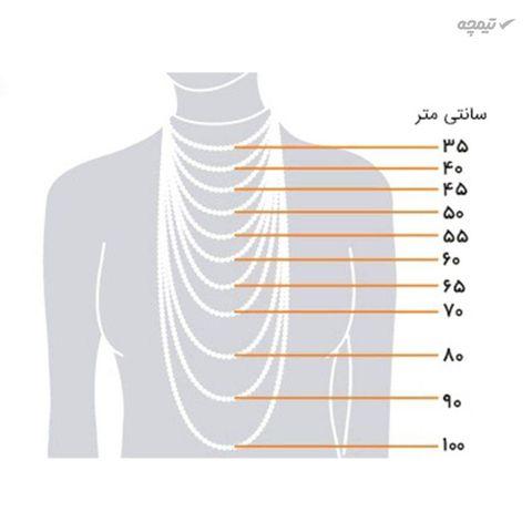 زنجیر زنانه مانچو طرح طناب مدل nm622