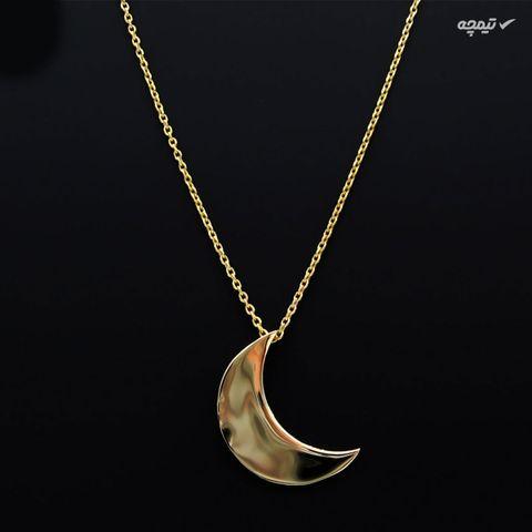 گردنبند طلا 18 عیار زنانه کاپانی طرح ماه کد KN013