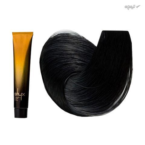 رنگ مو استایکس شماره 3 حجم 100 میلی لیتر رنگ قهوه ای تیره