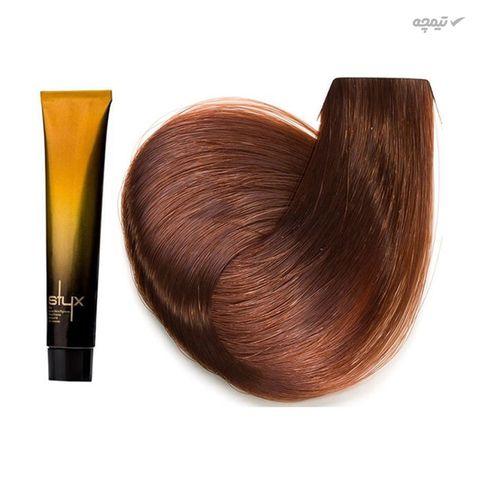 رنگ مو استایکس شماره 8.23 حجم 100 میلی لیتر رنگ بلوند فندوقی روشن
