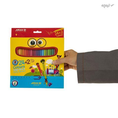 مداد رنگی 24 رنگ آریا مدل 3017