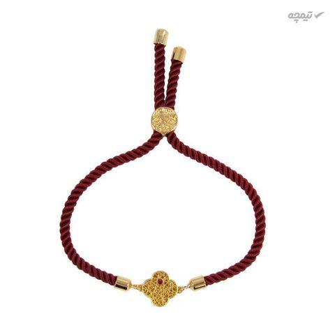 دستبند طلا 18 عیار زنانه مانچو کد bfg157