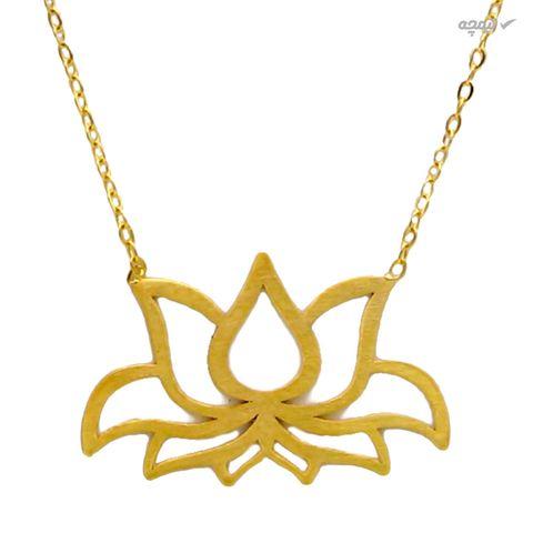 گردنبند طلا 18 عیار زنانه کاپانی طرح گل کد KN008