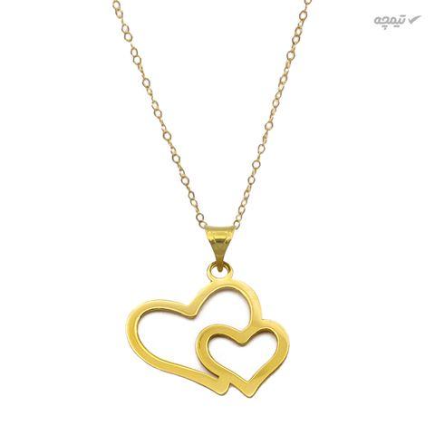 نیم ست طلا 18 عیار زنانه کاپانی طرح قلب کد KS023