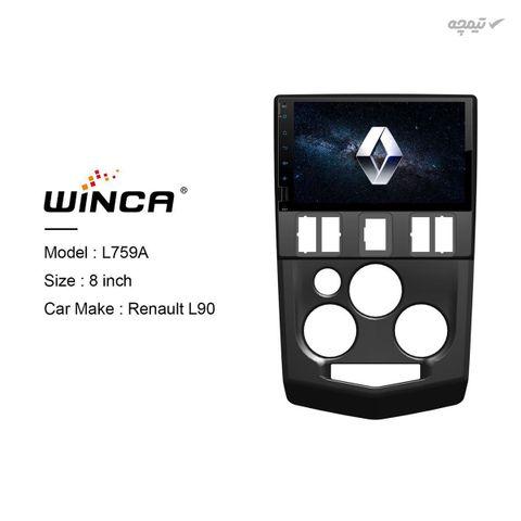 پخش کننده خودرو 2DIN وینگر مدل رنو L90 سازگار با سیستم عامل اندروید سایز 8 اینچ