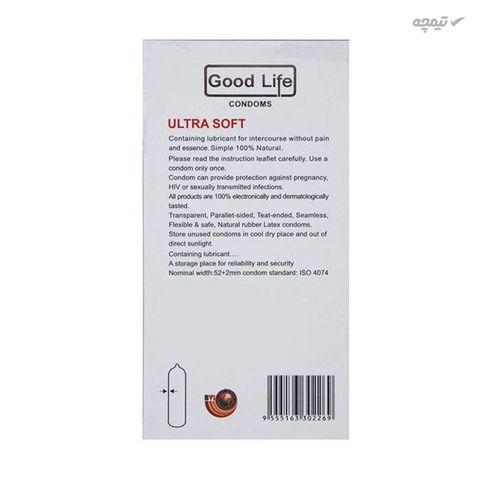 کاندوم بسیار نازک گودلایف مدل Ultra Soft بسته 12 عددی
