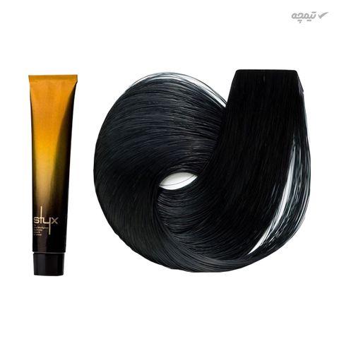 رنگ مو استایکس شماره 1 حجم 100 میلی لیتر رنگ مشکی