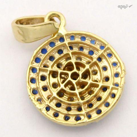 آویز گردنبند طلا 18 عیار زنانه کاپانی طرح چشم نظر کد KP017
