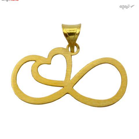 نیم ست طلا 18 عیار زنانه کاپانی طرح قلب و بی نهایت کد KS021
