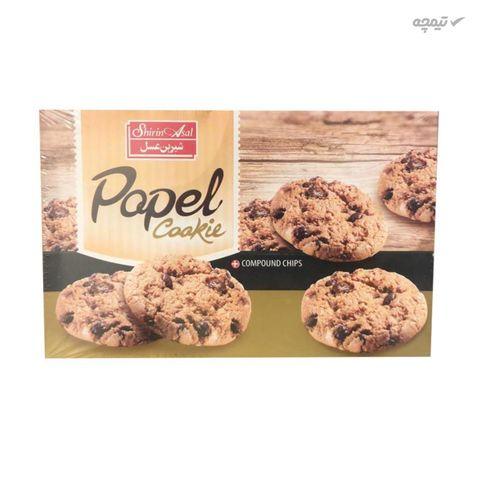 کوکی نارگیلی با تکه های کاکائو پاپل شیرین عسل مقدار 480 گرم بسته 2 عددی