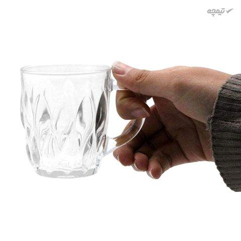استکان بلوری شیشه و بلور اصفهان مدل فلورانس بسته 6 عددی