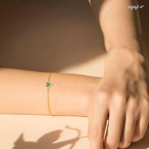 دستبند طلا 18 عیار زنانه کاپانی مدل KB007