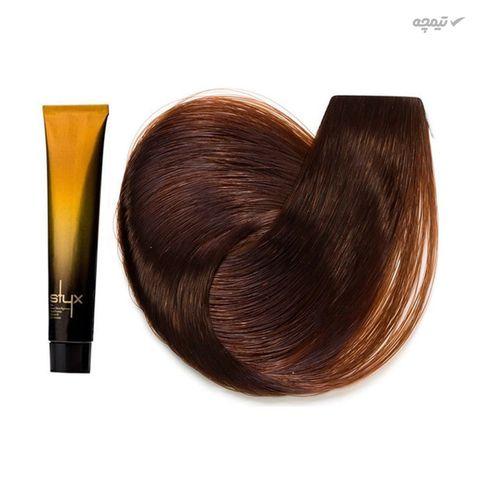 رنگ مو استایکس شماره 6.23 رنگ بلوند فندوقی تیره حجم 100 میلی لیتر