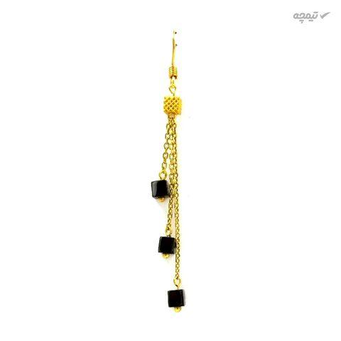 گوشواره طلا 18 عیار زنانه مانچو مدل efgs004