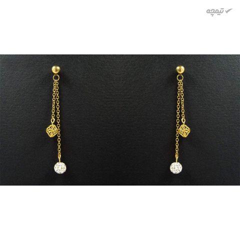 گوشواره طلا 18 عیار زنانه مانچو مدل efg007