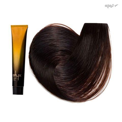 رنگ مو استایکس شماره 5.23 رنگ قهوه ای فندوقی روشن حجم 100 میلی لیتر
