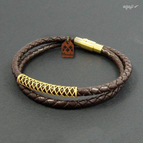 دستبند طلا 18 عیار زنانه مانچو مدل bfg150