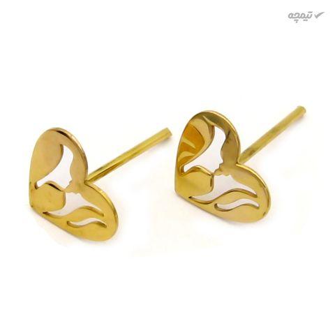 نیم ست طلا 18 عیار زنانه کاپانی طرح قلب کد KS019
