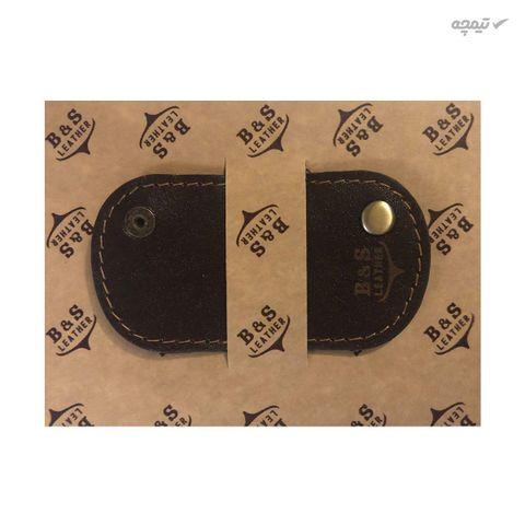 نگهدارنده کابل هندزفری و شارژ چرم طبیعی – دست دوز مدل BG رنگ قهوه ای B&S Leather