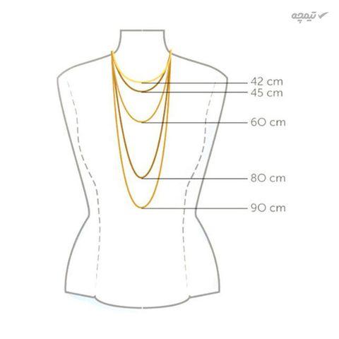 گردنبند طلا 18 عیار زنانه مانچو کد sfg652