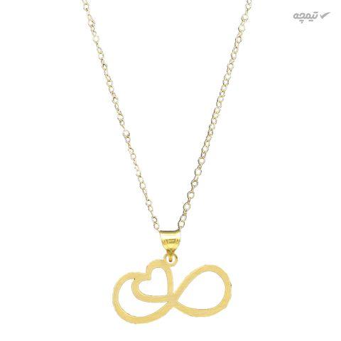 گردنبند طلا 18 عیار زنانه کاپانی طرح قلب و بی نهایت کد KN027