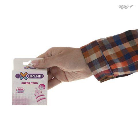 کاندوم ایکس دریم مدل Super Stud به همراه کاندوم بادی گارد مدل فیزیکال دیلی بسته 4 عددی