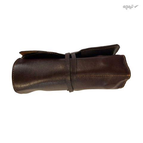 کیف ابزار چرم طبیعی دست دوز مدل G رنگ قهوه ای B&S Leather
