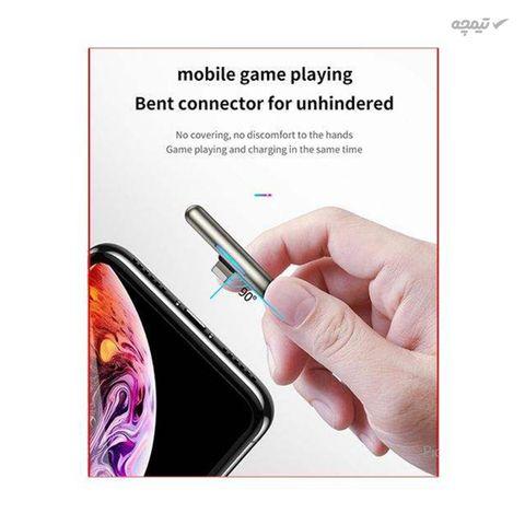 کابل تبدیل USB به لایتنینگ باسئوس مدل IridescentLamp طول 2 متر