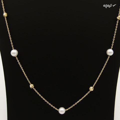 گردنبند طلا 18 عیار زنانه کاپانی کد KN047