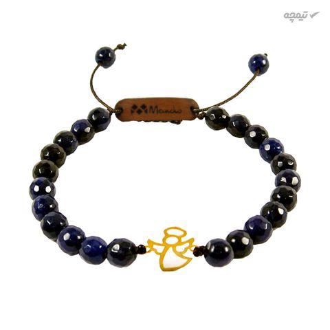 دستبند طلا 18 عیار مانچو مدل bfg554