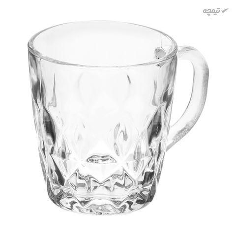 لیوان شیشه ای مدل LO-U بسته 6 عددی