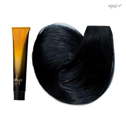 رنگ مو استایکس شماره 1.1 رنگ مشکی پرکلاغی حجم 100 میلی لیتر