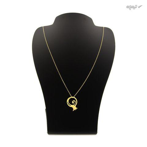 گردنبند طلا 18 عیار زنانه کاپانی طرح انار کد KN041